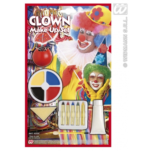 Clown Make Up Set Makeup for Circus Face Paint Stage Accessory