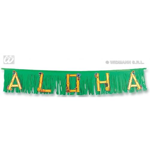 ALOHA GARLAND 150cm Accessory for Hawaiian Tropical Fancy Dress Party