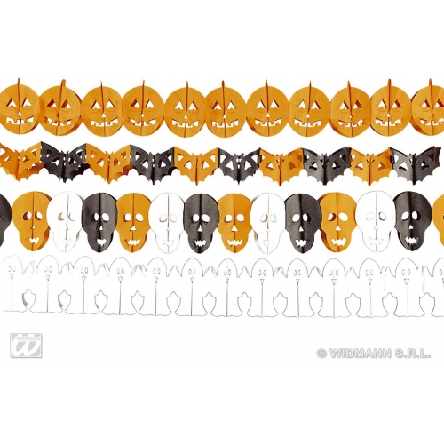 HALLOWEEN GARLAND 3m 1 of 4 styles Accessory for Trick Or Treat Fancy Dress Party