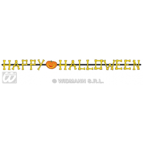 HAPPY HALLOWEEN GARLAND 2MTR Accessory for Trick Or Treat Fancy Dress Party
