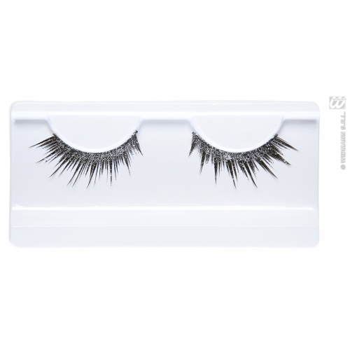 Silver Glitter Eyelashes for Makeup Accessory Stage Accessory