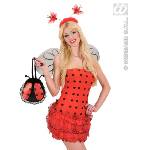 LADYBUG HANDBAG Accessory for Ladybird Bug Insect Creepy Crawly Fancy Dress