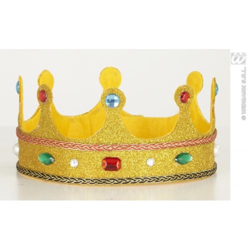 PERFORMER GLITTER CROWNS W/ GEMS BENDABLE SFX for Hollywood Show Cosmetics