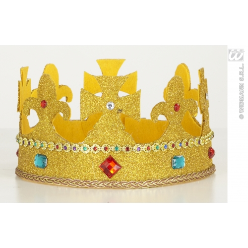ROYAL GLITTER CROWNS W/ GEMS BENDABLE SFX for Fairytale Regal Royal Ruler Cosmetics