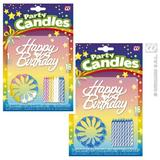 16 HAPPY BIRTHDAY CANDLES 1 of 3 colours Partyware for Party