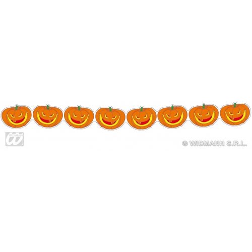 PUMPKIN GARLAND 3m Accessory for Halloween Trick Or Treat Fancy Dress Party