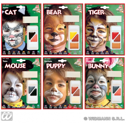 Little Animals Makeup Set for Cat Bear Tiger Mouse Puppy Bunny Stage Accessory