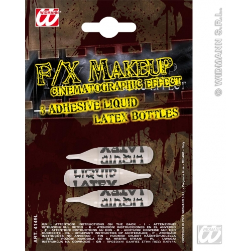ZOMBIE LIQUID LATEX ADHESIVE 3 SACHETS SFX for TWD Halloween Living Walking Dead Cosmetics