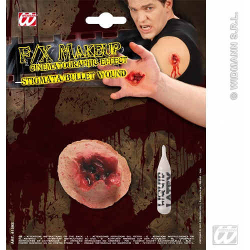 Special Effects SFx Stigmata / Bulletwound Makeup for SFX Halloween Stage Accessory