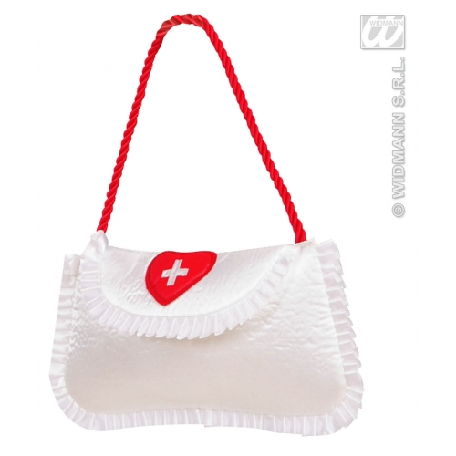 Satin Nurse Handbag Novelty Prop for Hospital Doctors Fancy Dress Accessory