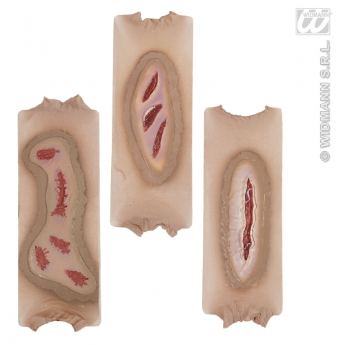 ZOMBIE OPEN WOUND SLEEVES 1 of 3 styles SFX for TWD Halloween Living Walking Dead Cosmetics