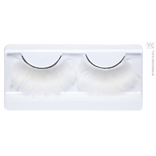 White Feather Eyelashes Makeup for Acceessory Stage Accessory