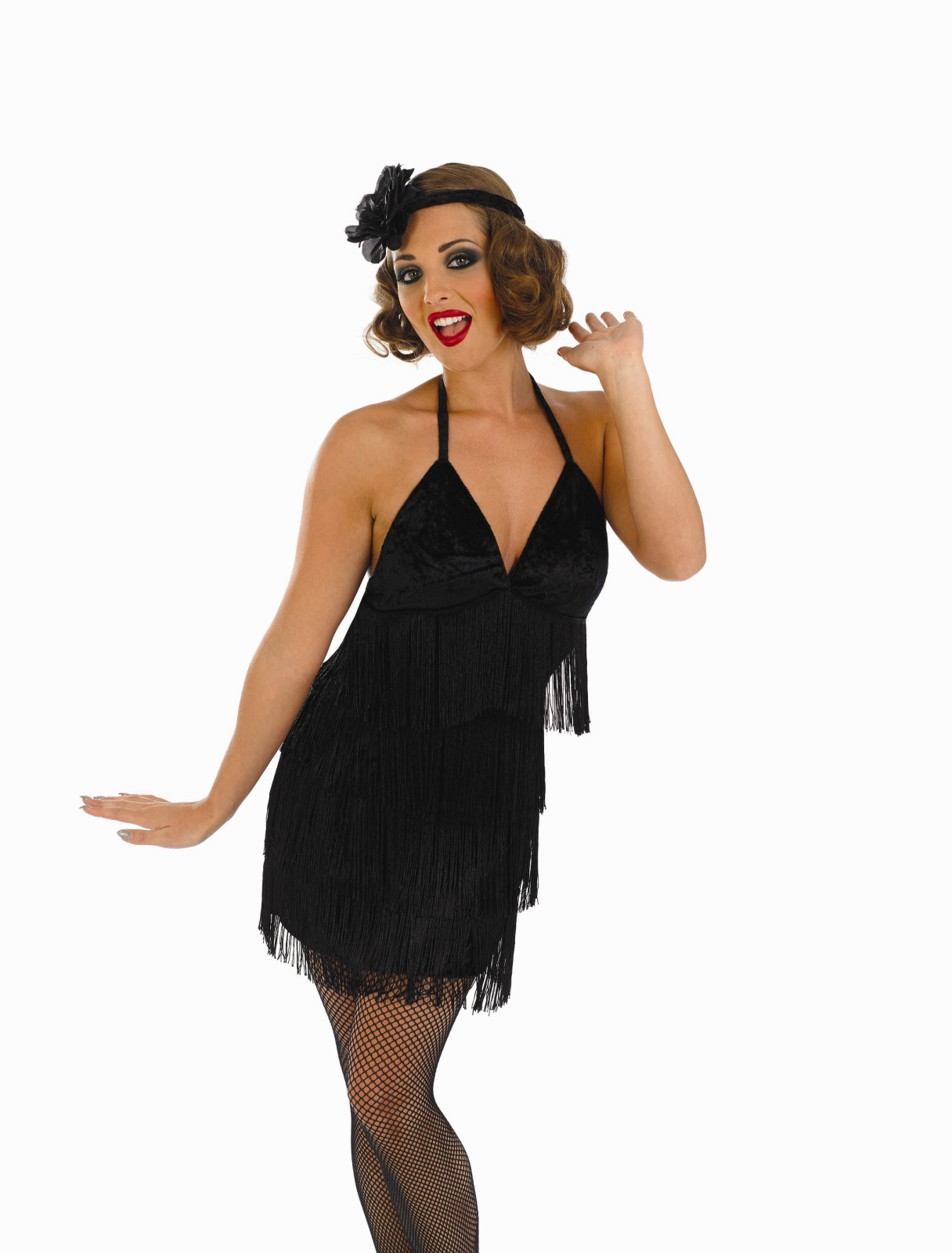 Ladies-Sexy-Black-Flapper-Dress-Costume-For-20s-30s-Moll-Fancy-Dress ...
