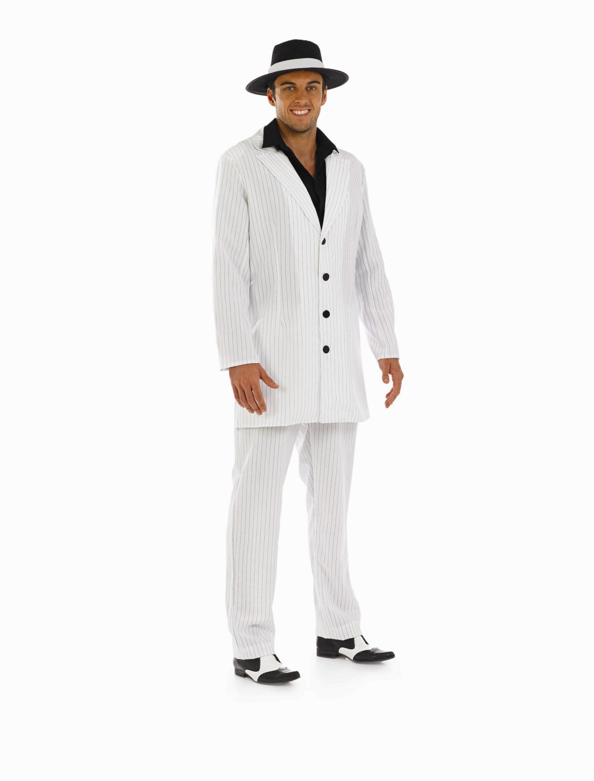 mens white gangster costume for 20s 30s mob fancy dress