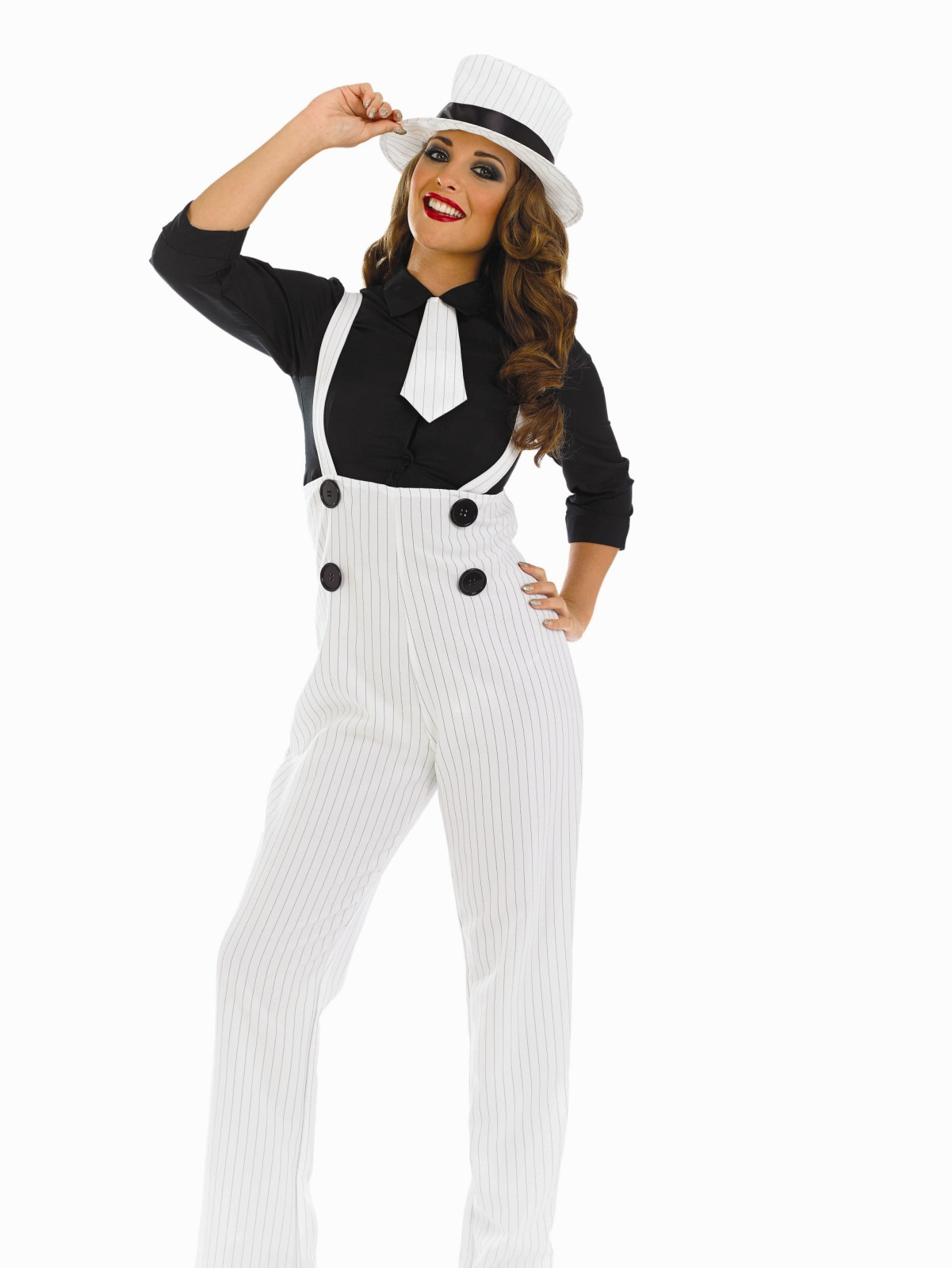 Ladies Lady Gangster Costume For 20s 30s Mob Fancy Dress
