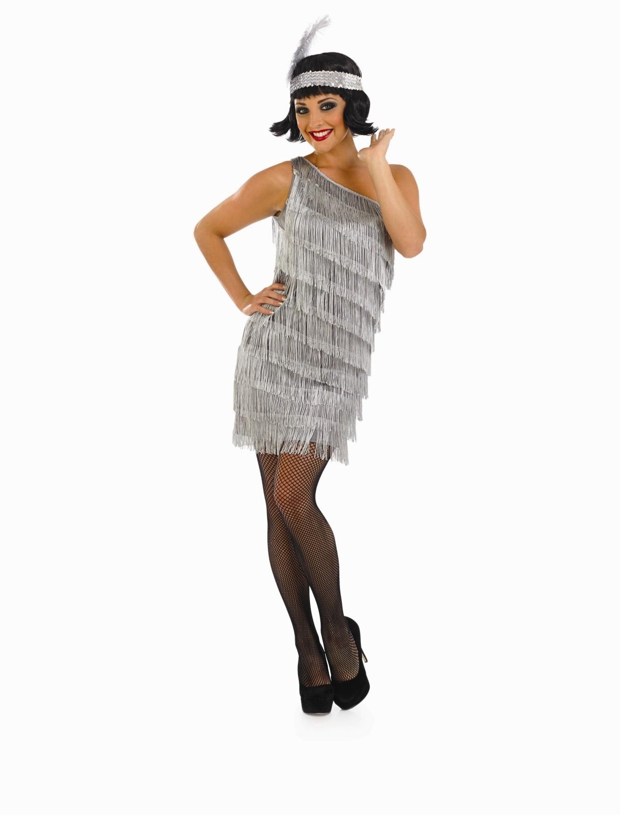 Womens 1920s flapper dress fancy dress costume adult flapper dress - Ladies Flapper Dress Costume For 20s 30s Moll