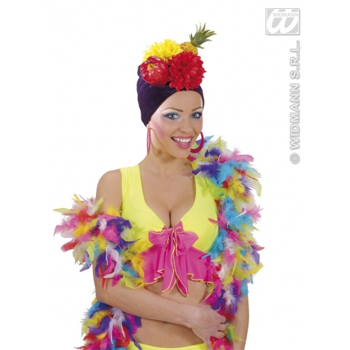 DELUXE MULTICOLOUR FEATHER BOAS Accessory for Flapper Molls Chorus Fancy Dress Party
