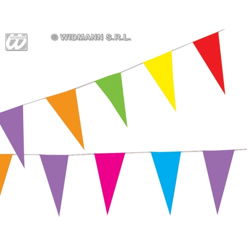 PAPER FLAG GARLAND 10m Decoration for Party