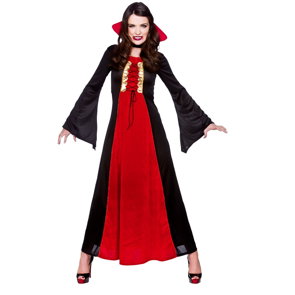 Womens Vampire Costumes for Adult Ladies Dracula Halloween Trick Treat Party Fancy Dress Up Outfits