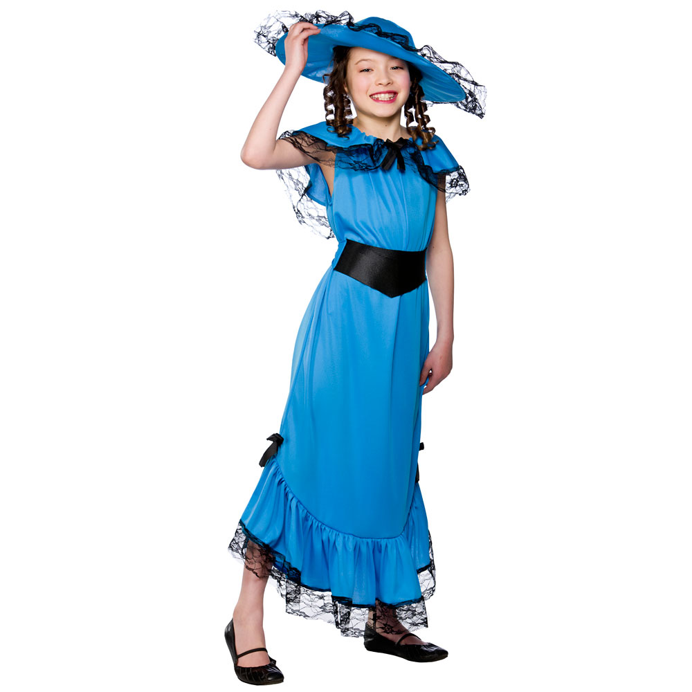 Girls Victorian Lady Costumes | Childrens Book Week Fancy Dress Up Outfits for Kids Childs