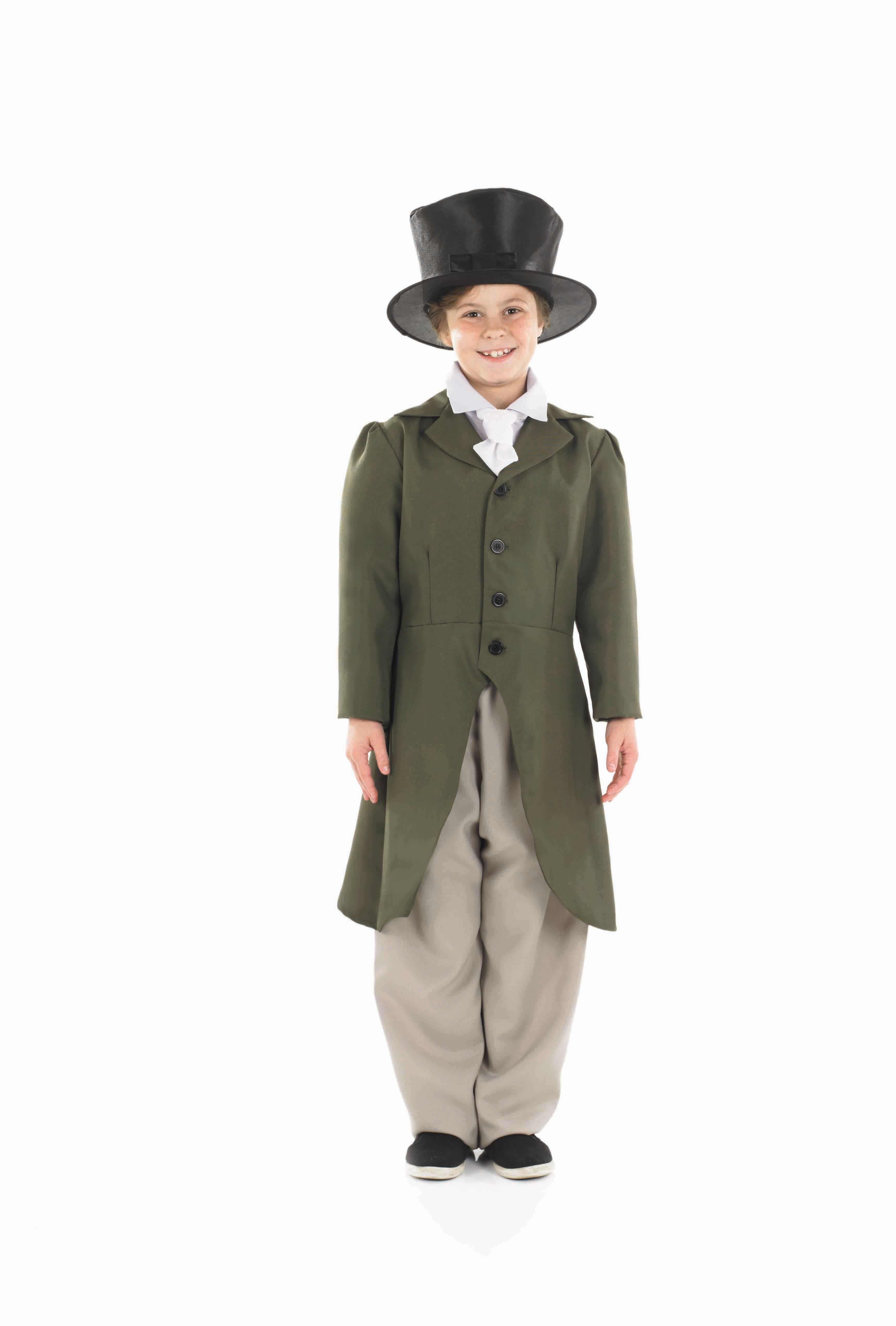 Boys Regency Boy Costume for Historic Book Day Fancy Dress Up Outfits