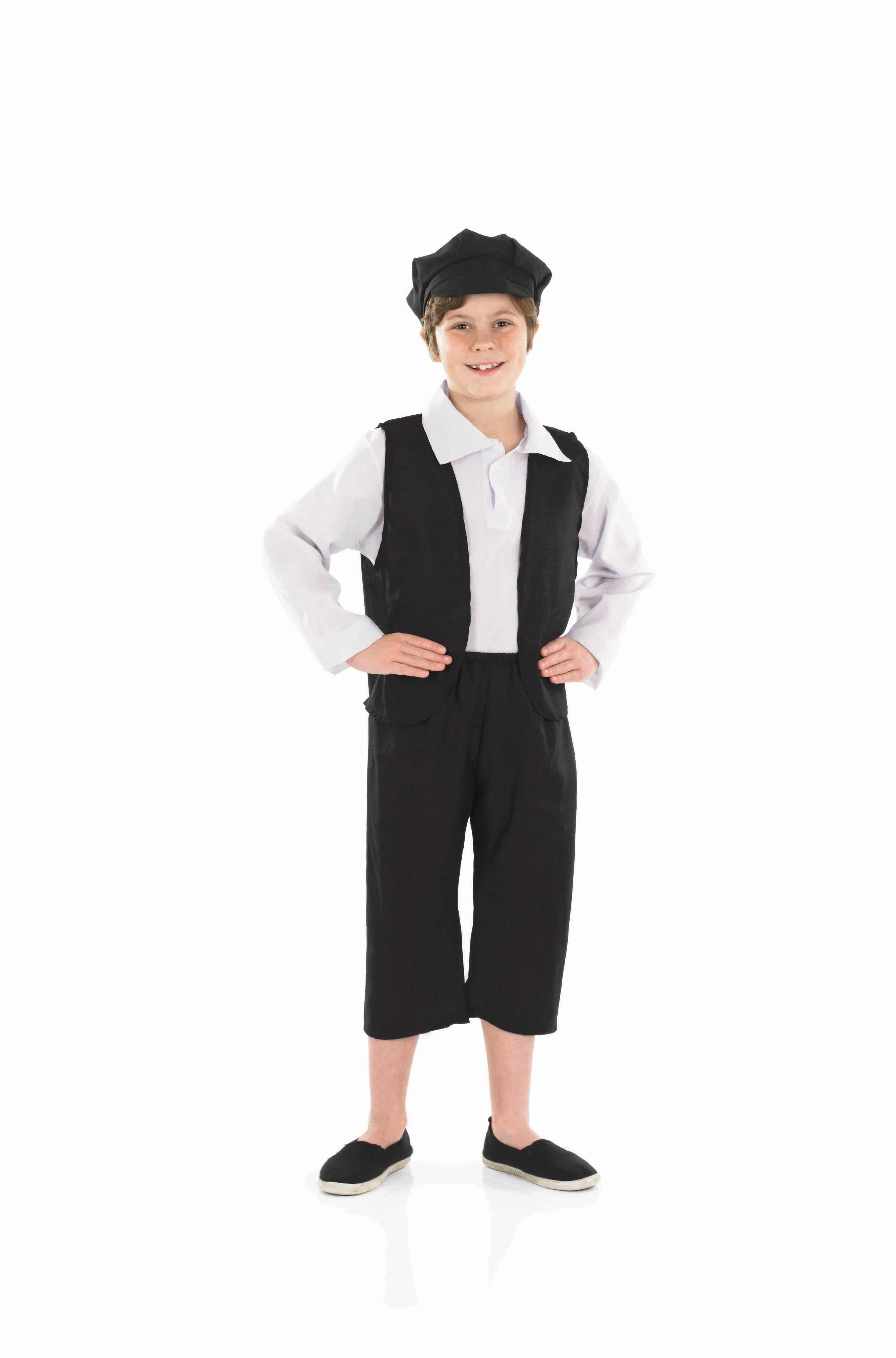 Boys Victorian Boy Costume for Historic Book Day Fancy Dress Up Outfits