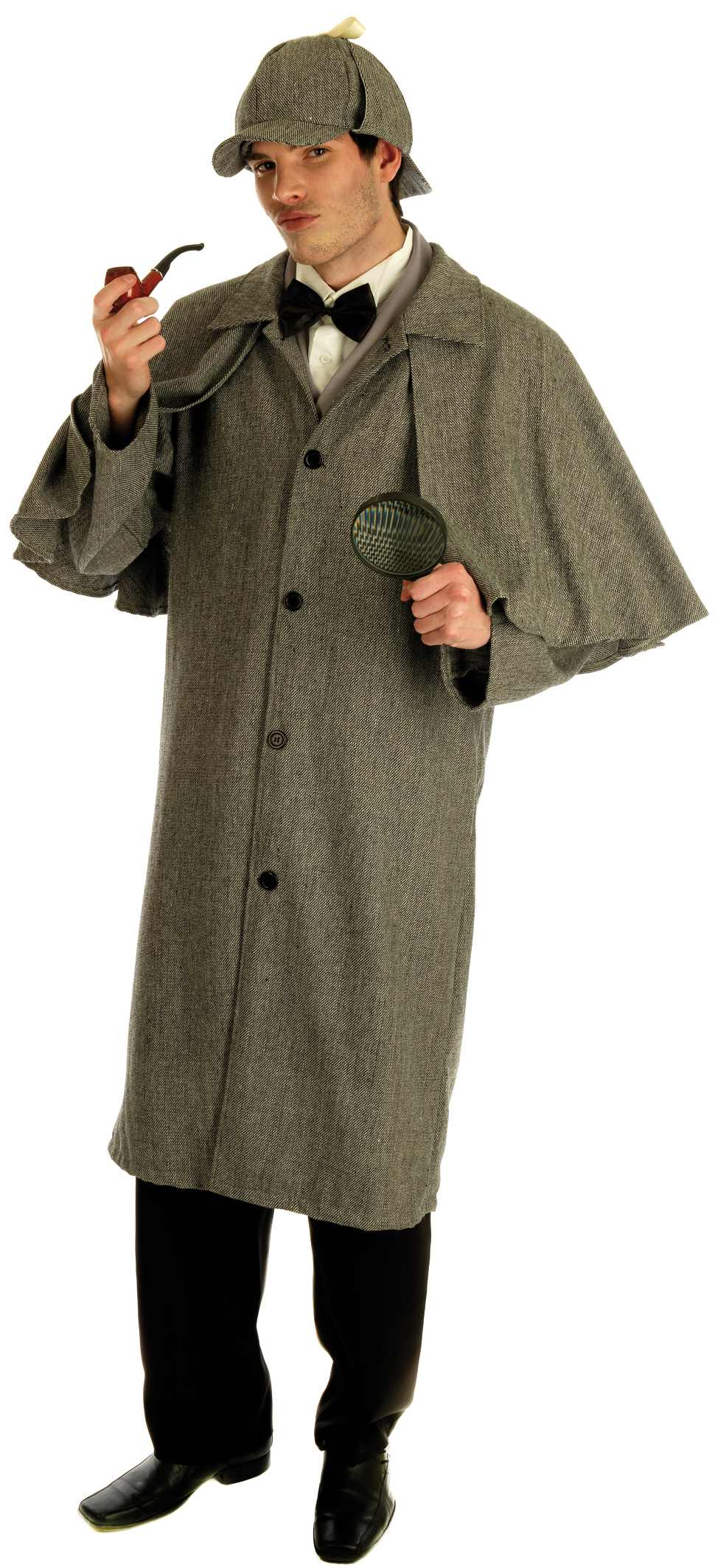 Mens Victorian Detective Costume for Cops & Robbers Sherlock Fancy Dress Up Outfits
