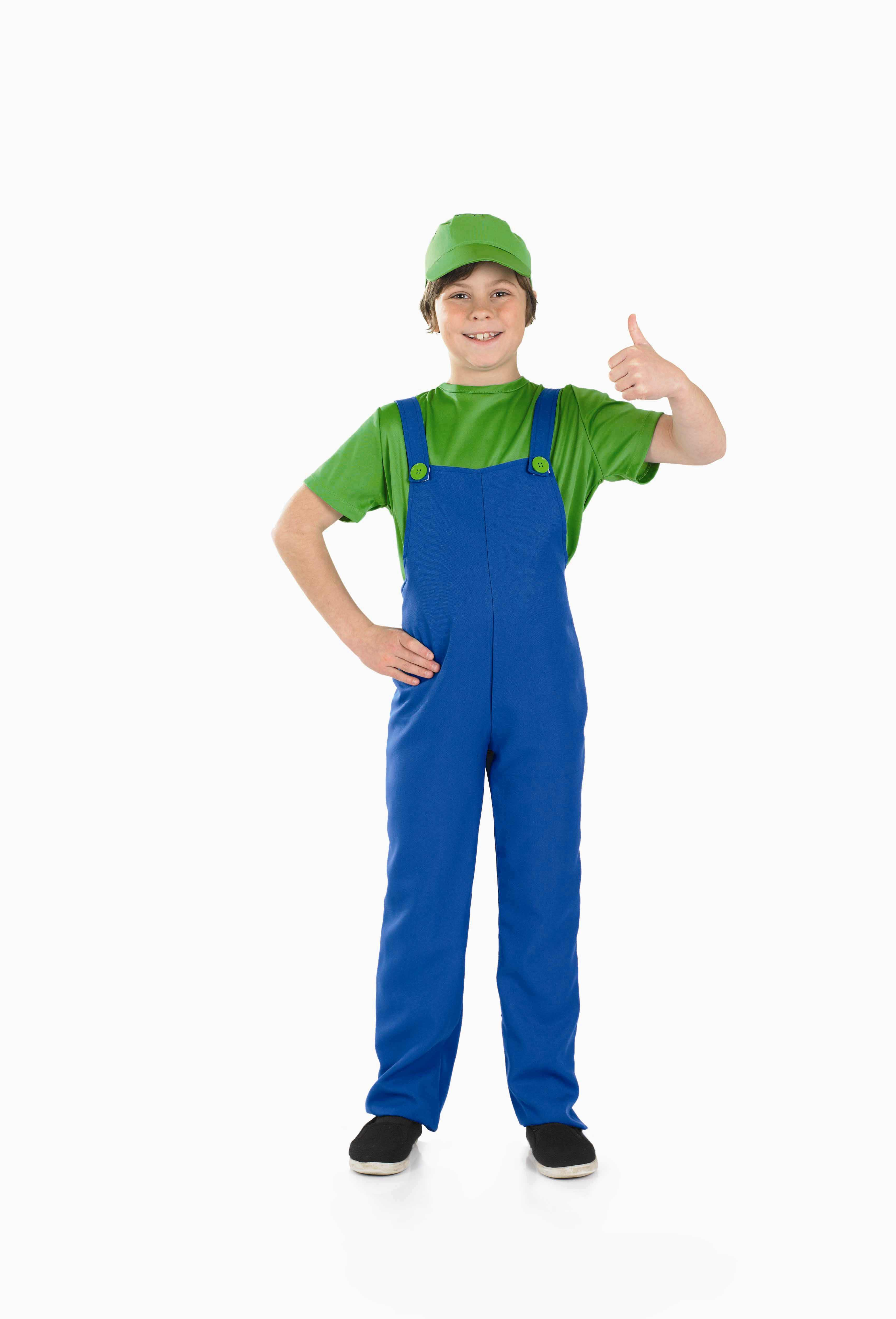 Boys Plumbers Mate Boy Costume For 80s Fancy Dress Kids Childrens ...