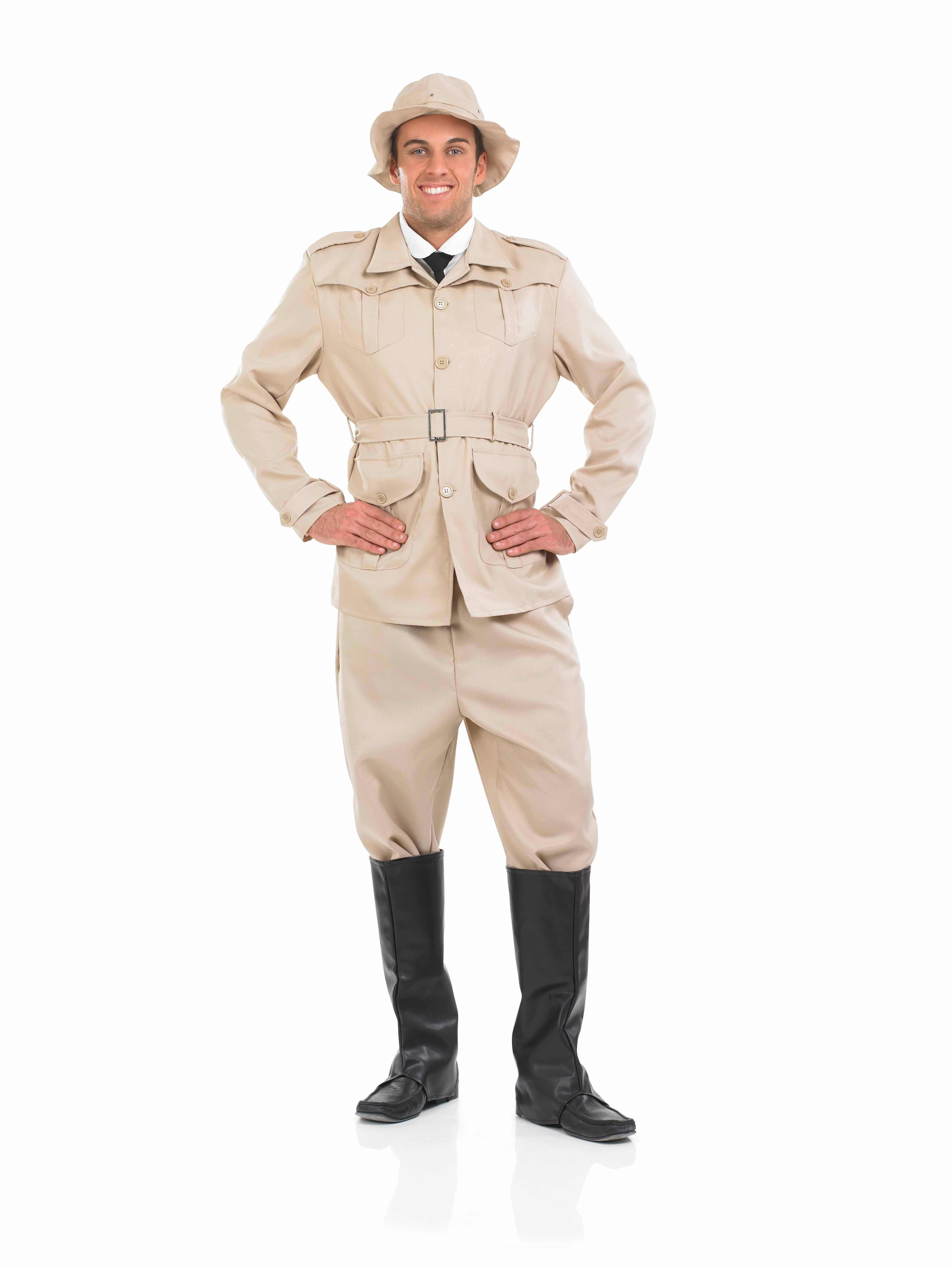 Mens-Safari-Suit-Costume-For-Jungle-Fancy-Dress-  sc 1 st  eBay & Mens Safari Suit Costume For Jungle Fancy Dress Adults Male | eBay