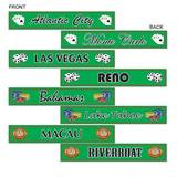 Casino gambling destination street signs for Party Decoration