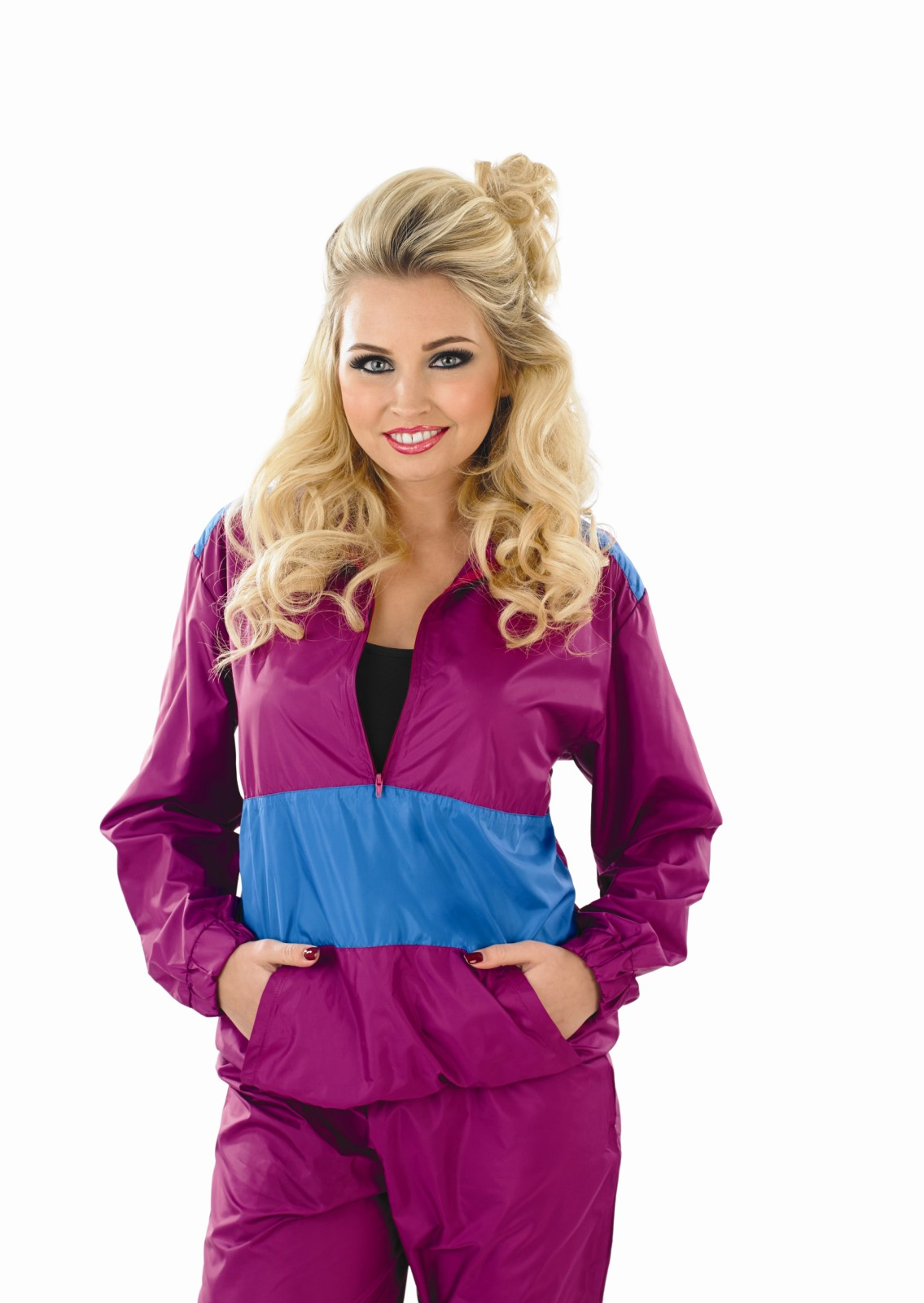 Ladies Shell Suit Costume For 90s Scouser Fancy Dress Adults Womens