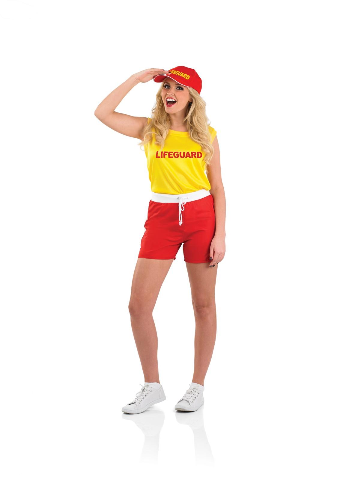 Ladies Female Lifeguard Costume For 90s Bay Fancy Dress ...  Ladies Female L...