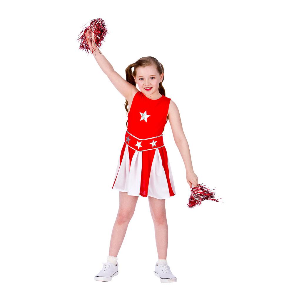 Girls Cheerleader Costume For Sport Fancy Dress Childrens Kids Childs