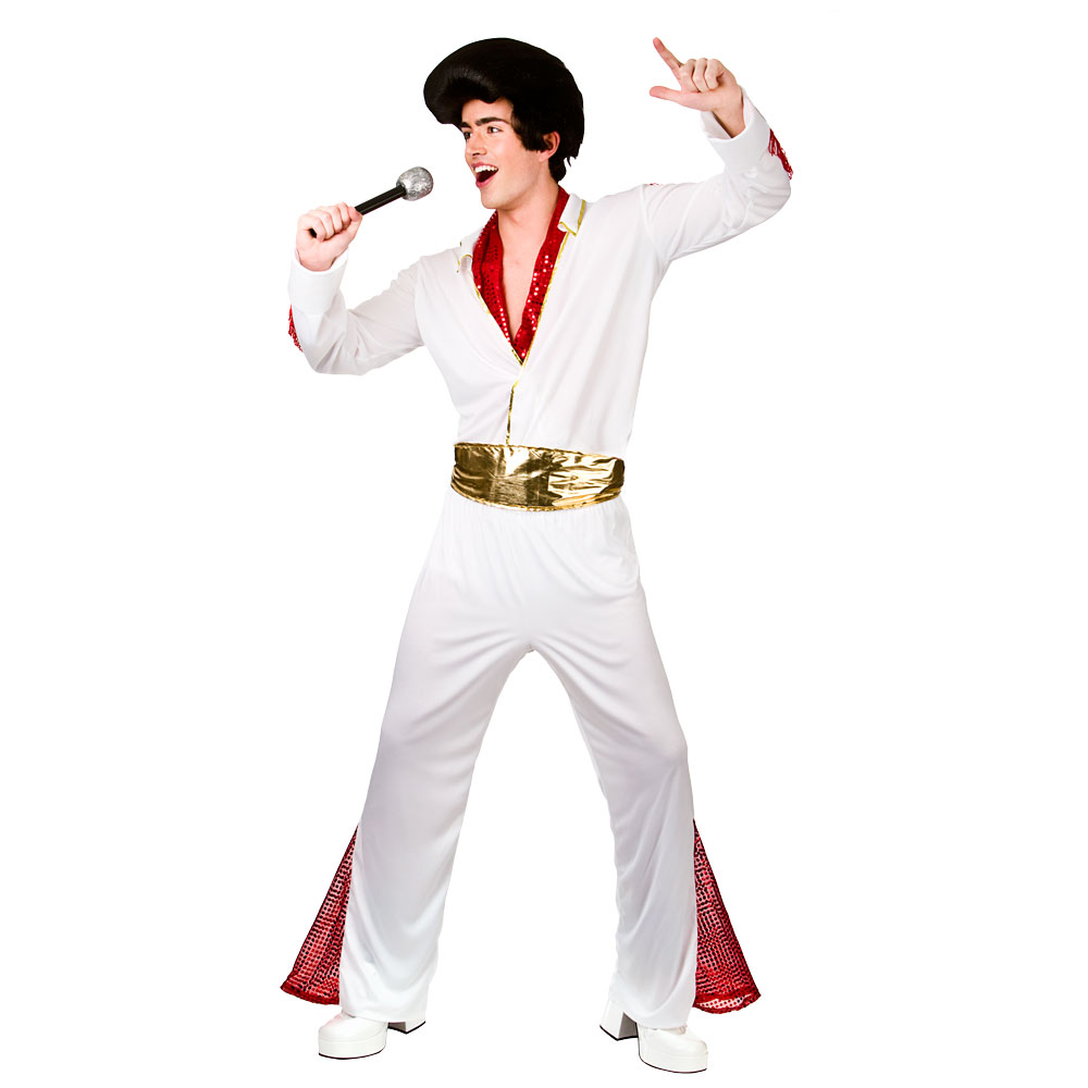 Mens King of Rock 'n' roll Costume for Elvis 50s 60s 70s ...