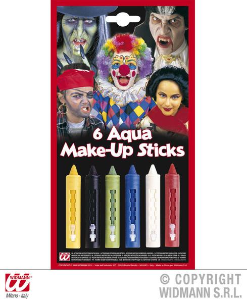 Aqua Makeup Sticks W/Dispenser Makeup for SFX Face Body Paint Fancy Dress