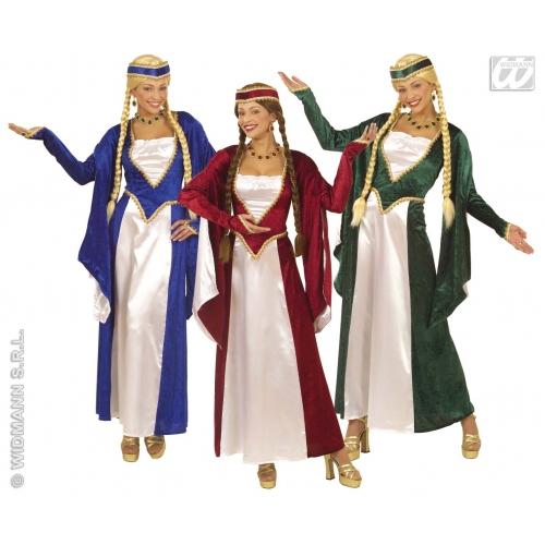 Mujer disfraz reina del renacimiento traje medieval edad - Trajes de carnaval de epoca ...