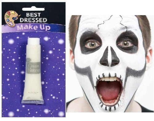 Professional White Cream Make Up Face Body Paint for Halloween 28.3 gm /1oz Tube