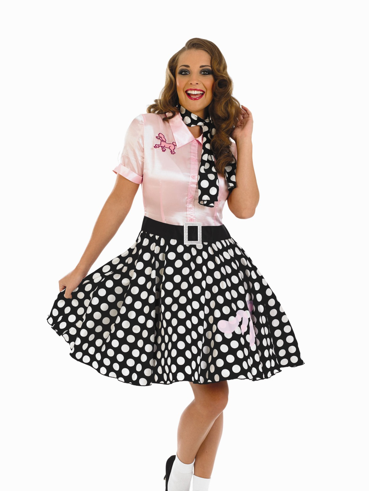 Ladies 50s Rock N Roll Girl Costume For Poodle Fancy Dress Adults Womens | eBay