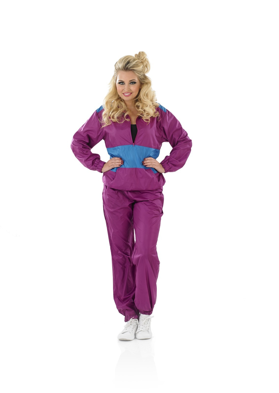 Ladies shell suit costume for 90s scouser fancy dress adults ladies shell suit costume for 90s scouser fancy dress adults womens sciox Image collections