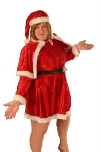 Ladies Fancy Dress Outfit Costume Mrs Father Christmas Santa Plus Size Father Ch