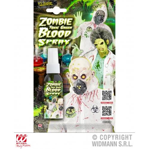 SPRAY ZOMBIE TOXIC GREEN BLOOD SFX for TWD Halloween Living Walking Dead Cosmeti