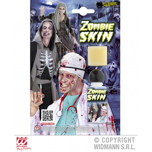 BOTTLE W/SPONGE ZOMBIE SKIN SFX for TWD Halloween Living Walking Dead Cosmetics