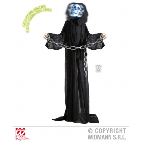 Animated grim reaper skeleton party decoration for death for Animated flying reaper decoration