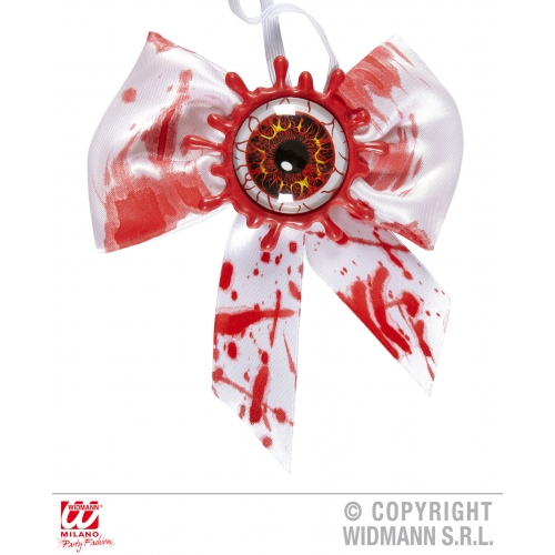 BLOODY EYE BOW TIE Decoration for Bleeding Wound Vampire Party