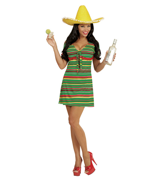 Ladies Womens Mexican Girl Costume Outfit for Wild West Fancy Dress | eBay