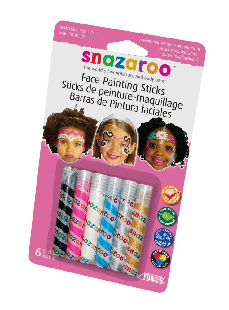 Snazaroo Face Paint Sticks for Makeup Fancy Dress