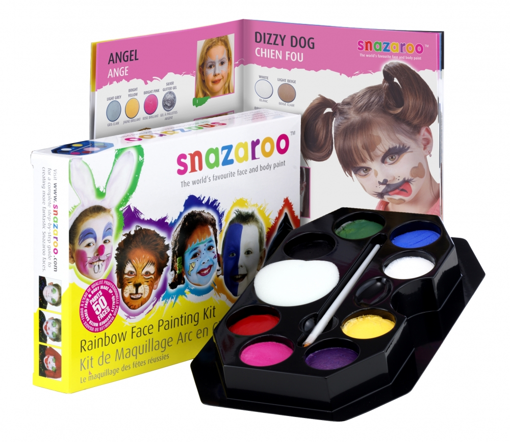 Snazaroo Face Painting Kit Makeup for Face Body Paint Fancy Dress