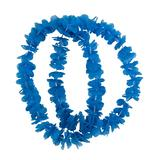 BLUE Hawaiian Small Petal Lei 2 pc Set Accessory for Tropical Beach Fancy Dress