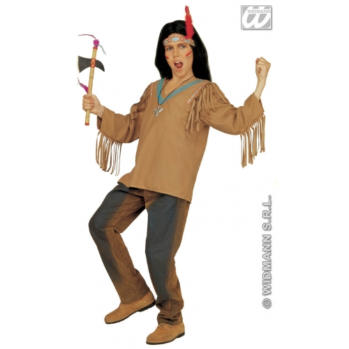 Apache Costume Shirt Coat for Native American Indian Cowboys Fancy Dress