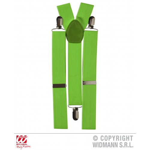 Braces Neon Suspenders for Rave Glow UV Fancy Dress